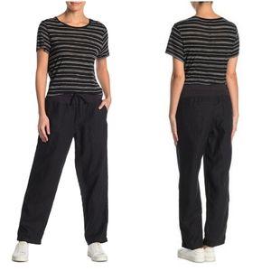 James Perse Linen Utility Pants Black